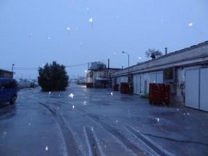 Snow in Pradejon, Spain!!