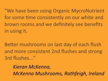 Mushroom Nutrient Testimonial